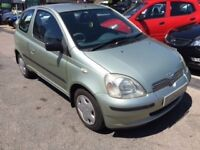 2002/02 TOYOTA YARIS 1.4 D 4D GLS 3DR METALLIC PAINT,GREAT ECONOMY,£30 ROAD TAX,LOOKS + DRIVES WELL