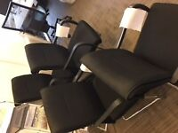 4x Office Chairs in Black & Chrome **Free**
