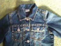 Girl's Next denim jacket age 7-8 years