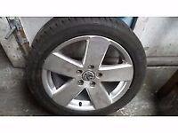 Genuine 2005-2010 Volkswagen passat b6 r-line spare alloy wheel with continental tyre.