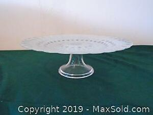 Glass Cake Plate with Stand