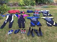 Sailing Clothing - life jackets, gloves, boots, spray top & wetsuits