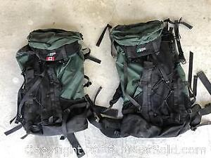 Two MEC Backpacking Packs - Standard & Short and a MEC Dry Bag
