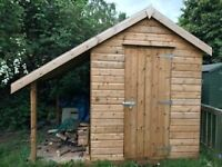 Shed with Wood Store, 1 year - old 8 x 6ft £390 ovno