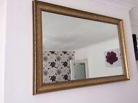 Wall Mirror - Gold surround
