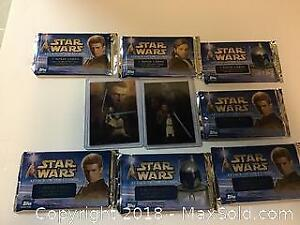 Star Wars Partial wax Box with 2 Foil insert cards