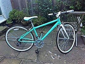 Racing bike 700c for girls, green turquoise Barracuda Cetus WS road , hardly used.