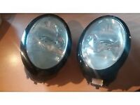 MINI HEADLAMPS ALL WORKING GOOD CONDITION