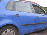 POLO REAR DOOR breaking for parts in GATWICK AREA