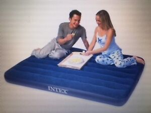 Potable Intex Queen-Size Airbed, Royal Blue
