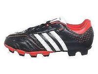 ADIDAS 11 QUESTRA TRX BOYS FOOTBALL BOOTS - 5 /PLUS NIKE SHIN PADS NEW B