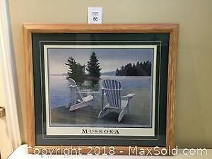 Muskoka Waterfront Framed Print by D.A. Dunford