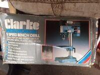 Clarke Metal Worker 5 speed bench drill