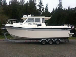 2014 Osprey 28 foot Long cabin pilothouse/twin outboards