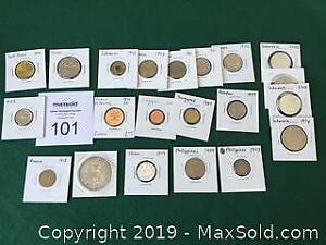 20 Asian And Middle Eastern Coins 1903 To 2003 A