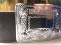 Kilt belt and buckle, size 36