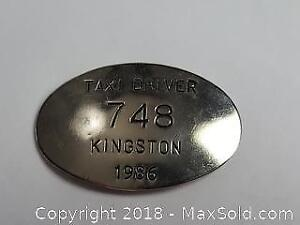 1986 Kingston Cab Taxi Driver Badge