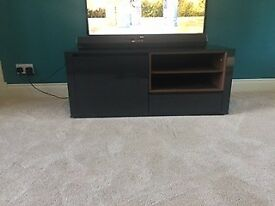 next wood and gloss tv stand