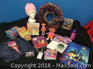 Girls Jacket, Travel Games, Pillow, Dora Dolls