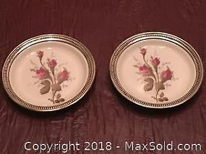 Rosenthal Butter Plates with Sterling Silver Trim
