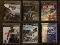 PS 3 Games $15.00/each