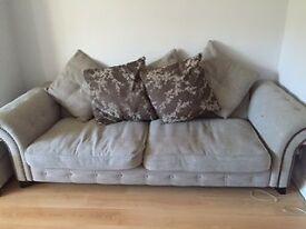 Large Grey Sofa and Storage Foot Stool