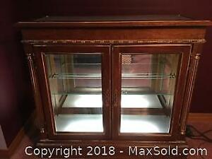 Curio Glass Display Cabinet With Interior Light