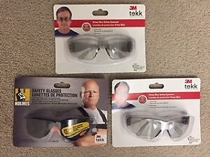 Safety Glasses - 3 Pairs CSA Approved - New
