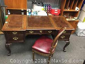 Vintage Executive Desk and Chair