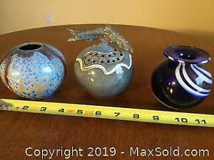 Signed Original Glass And Pottery Pieces
