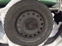 205 60 r 16 kumho winter tires and rims set of 4