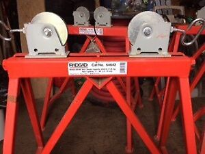 Rigid 64642 pipe roller stands