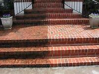 INTERLOCK & STAMPED CONCRETE  POWER WASH,SAND AND SEAL