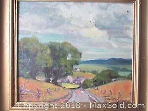 1940's Original Oil Painting Signed By Marietta Wilkenson.