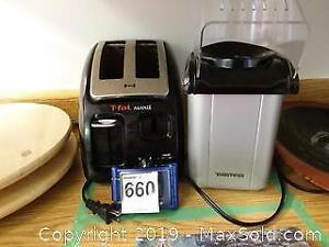 T fal Toaster and Toastess Popcorn Maker B