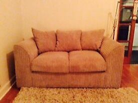 two seater sofa good condition, chunky cord style
