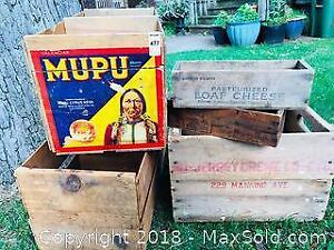Old Wood Advertising Crates