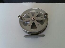 Triple check Vintage fly fishing reel by T J H and son, made in England.