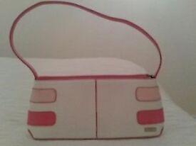Fiorelli pink & white handbag