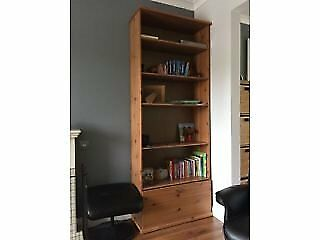 Bookcase with low level drawer storage