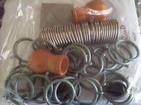 Mixture of Curtain Rings, Metal & Plastic Sets - Brand New £1