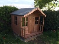 Children's wooden playhouses, many designs avaible for all budgets , 6x6 playhouse shown