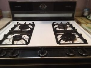 GAS STOVE, BUFFET AND HUTCH, LAUNDRY TUBS, FABRIC, YARNS,