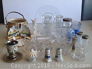 Lot Vintage Glass And Crystal