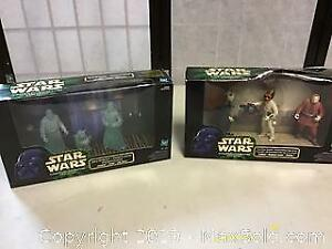 Two Star Wars potf figure sets Jedi Cantina aliens