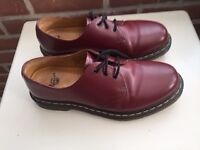 "Dr Martens classic ""1461' Originals, Cherry Red Smooth, Unisex Size 8"