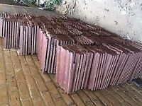 125 Marley Ludlow roof tiles, Antique red almost new very good quality tiles 29 by 34, collect