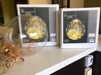 Glass bauble globes LED 25 & 30cm versions