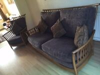 Genuine Ercol Furniture 2 x Armchairs & 3 Seater sofa (cushions included)