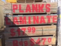 8' Laminate Salffold Planks for only $17.99